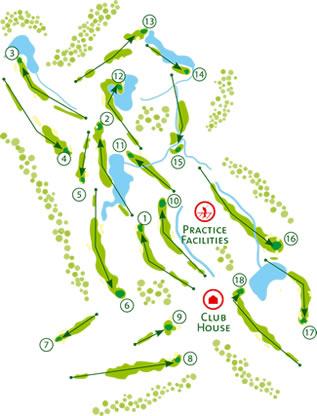 Monte Rei Golf Course map