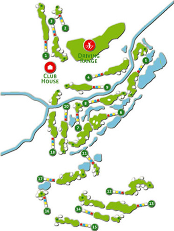 Amendoeira Faldo Golf Course map