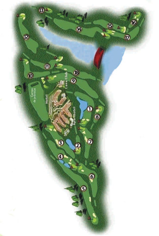 El Rompido South Golf Course map