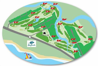 Isla Canela Golf Course map