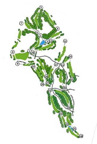 Islantilla Golf Course map