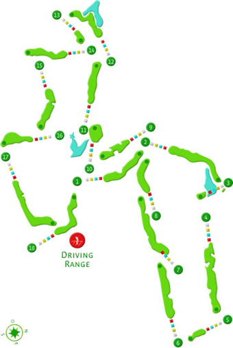 Bom Sucesso Guardian Golf Course map