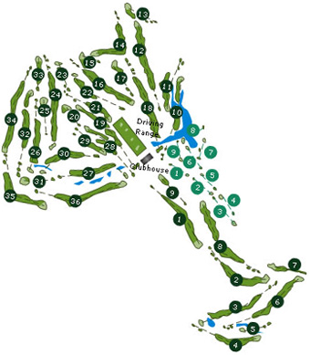 Porto Santo Golf Course map
