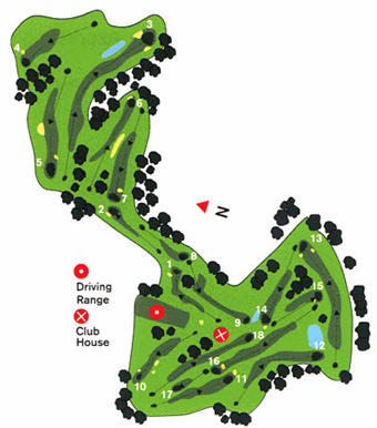 Ponte de Lima Golf Course map