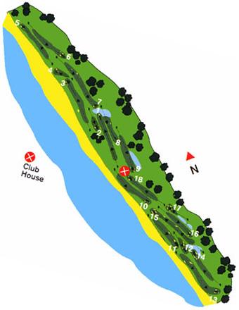 Estela Club Golf Course map