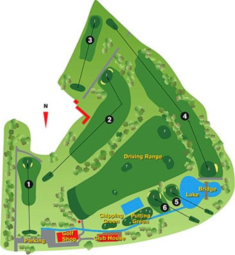 da Quinta do Fojo Golf Course map
