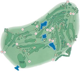 de Amarante Golf Course map